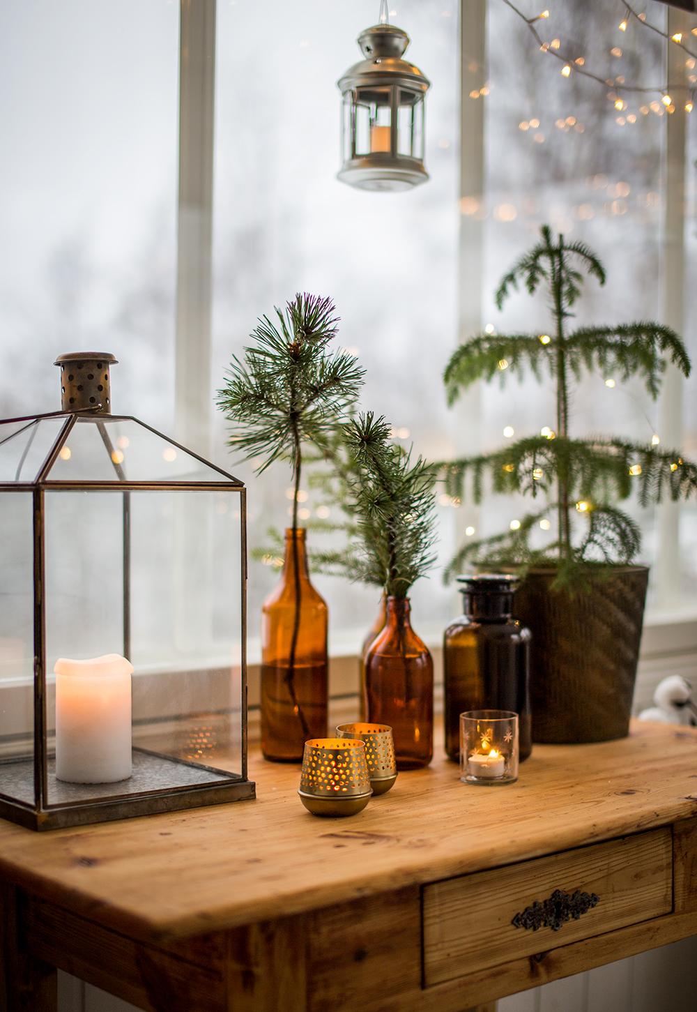 Oksat pulloon – koristeita verannalle